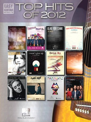 TOP HITS OF 2012 EASY GUITAR NOTES & TAB
