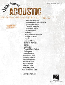 VALUE SONGBOOKS ACOUSTIC PVG