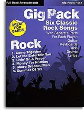 GIG PACK 6 CLASSIC ROCK SONGS ROCKSCORE BAND PTS