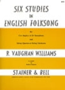 STUDIES IN ENGLISH FOLKSONG 6 COR ANG/STR 4ET