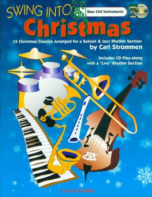 SWING INTO CHRISTMAS BASS CLEF INSTR BK/CD