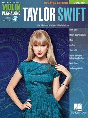 TAYLOR SWIFT VIOLIN PLAYALONG V37 BK/OLA UPDATED ED