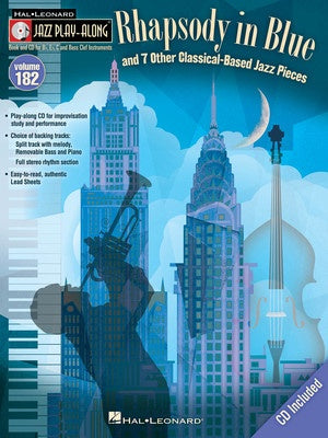 RHAPSODY IN BLUE ET AL JAZZ PLAY ALONG BK/CD V18