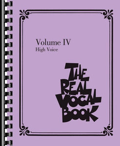 REAL VOCAL BOOK VOL 4 HIGH VOICE