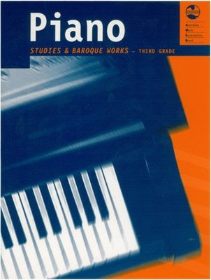 AMEB PIANO STUDIES AND BAROQUE WORKS GRADE 3