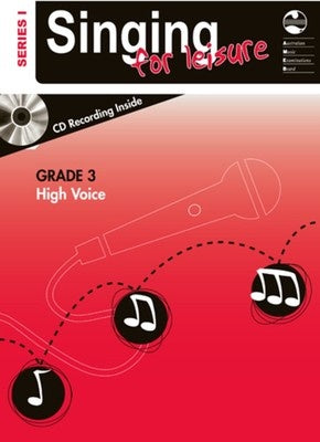 AMEB SINGING FOR LEISURE BK/CD GRADE 3 HIGH SERIES 1