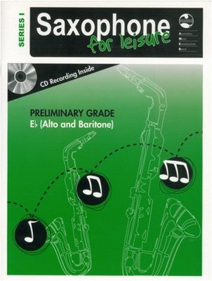 AMEB SAXOPHONE FOR LEISURE PRELIM E FLAT BK/CD SER 1