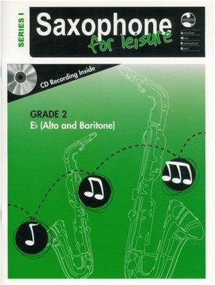 AMEB SAXOPHONE FOR LEISURE GRADE 2 E FLAT BK/CD SER 1