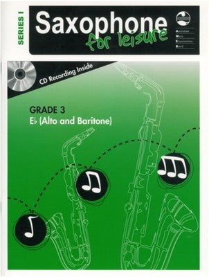 AMEB SAXOPHONE FOR LEISURE GRADE 3 E FLAT BK/CD SER 1
