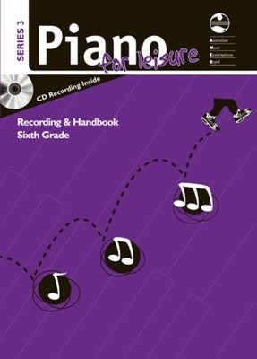 AMEB PIANO FOR LEISURE GRADE 6 SERIES 3 CD/HANDBOOK