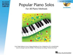 HLSPL POPULAR PIANO SOLOS PRESTAFF LEVEL BK/CD