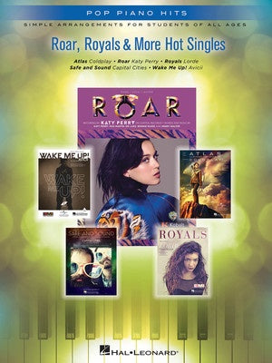 ROAR ROYALS & MORE HOT SINGLES EASY PIANO