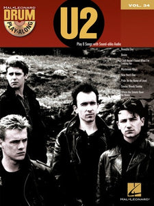 U2 DRUM PLAYALONG V34 BK/CD