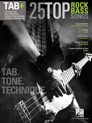 25 TOP ROCK BASS SONGS TAB TONE TECH