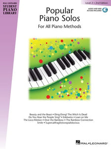HLSPL POPULAR PIANO SOLOS LEV 2 2ND EDITION BK/OLA