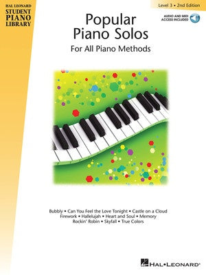 HLSPL POPULAR PIANO SOLOS LEV 3 2ND EDITION BK/OLA