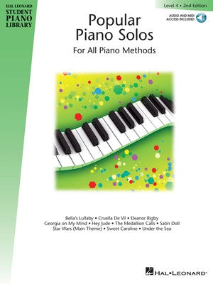 HLSPL POPULAR PIANO SOLOS BK 4 BK/CD 2ND ED