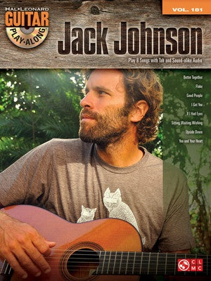JACK JOHNSON GUITAR PLAY ALONG V177 BK/CD