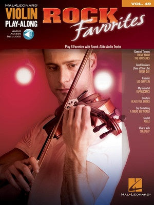 ROCK FAVORITES VIOLIN PLAYALONG V49 BK/OLA