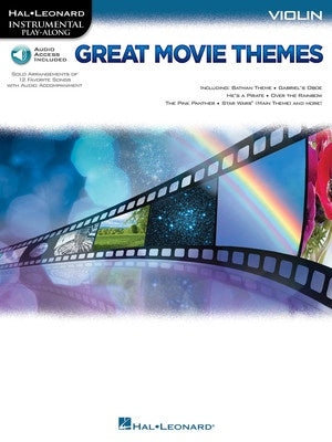 GREAT MOVIE THEMES VIOLIN BK/OLA