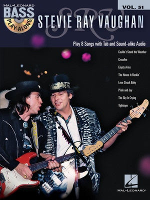 STEVIE RAY VAUGHAN BASS PLAY ALONG V51 BK/CD