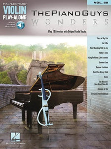 PIANO GUYS WONDERS VLN PLAYALONG V58 BK/OLA