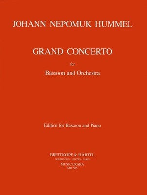 HUMMEL - GRAND CONCERTO F S63/W23 BASSOON/PIANO