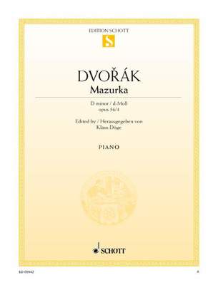 DVORAK - MAZURKA D MINOR OP 56 NO 4 PIANO