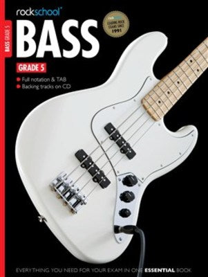 ROCKSCHOOL BASS GUITAR GR 5 BK/OLA 2012-2018