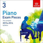 ABRSM PIANO EXAM PIECES 2015-2016 GR 3 CD