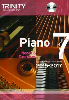 PIANO PIECES & EXERCISES GR 7 2015-2017 BK/CD