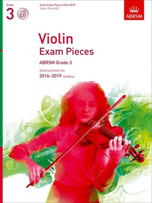 VIOLIN EXAM PIECES 2016-19 GR 3 VLN/PNO/CD