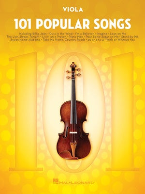 101 POPULAR SONGS FOR VIOLA