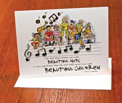 BEAUTIFUL MUSIC BEAUTIFUL CHILDREN NOTECARDS 10 PACK