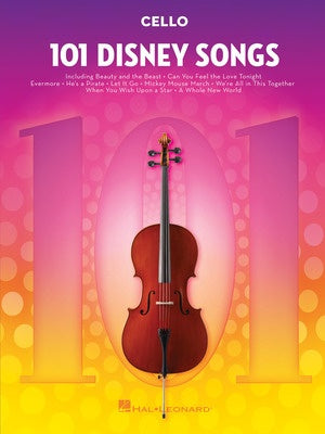 101 DISNEY SONGS FOR CELLO