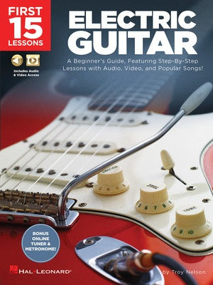 FIRST 15 LESSONS ELECTRIC GUITAR BK/OLM