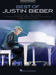 BEST OF JUSTIN BIEBER EASY PIANO