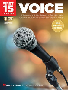 FIRST 15 LESSONS VOICE POP SINGERS EDITION BK/OLM
