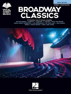 BROADWAY CLASSICS MENS EDITION VOCAL SHEET MUSIC PVG