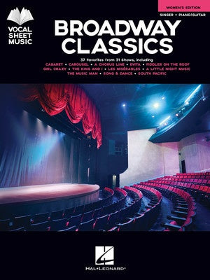 BROADWAY CLASSICS WOMENS EDITION VOCAL SHEET MUSIC PVG