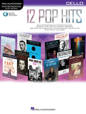 12 POP HITS CELLO BK/OLA