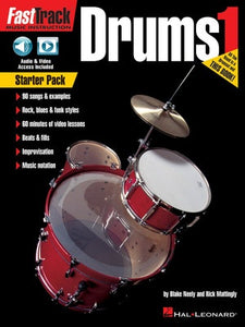 FASTTRACK DRUMS METHOD STARTER PACK BK/OLM