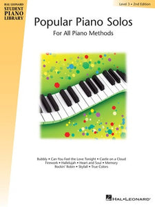 HLSPL POPULAR PIANO SOLOS BK 3 2ND EDN