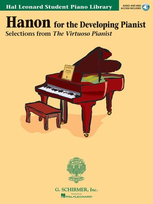 HLSPL HANON FOR DEVELOPING PIANIST BK/CD
