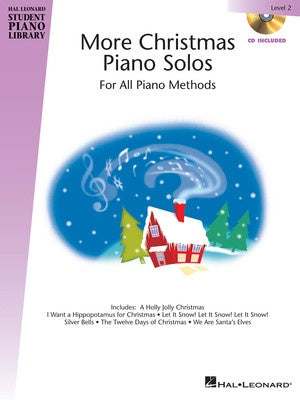 HLSPL MORE CHRISTMAS PIANO SOLOS LEV 2 BK/CD