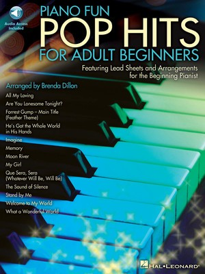 PIANO FUN POP HITS FOR ADULT BEGINNERS BK/CD