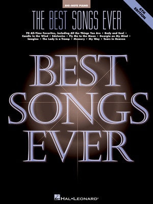 BEST SONGS EVER BIG NOTE PIANO 6TH ED