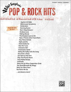 VALUE SONGBOOKS POP & ROCK HITS PVG