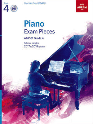 ABRSM PIANO EXAM PIECES 2017-2018 GR 4 BK/CD