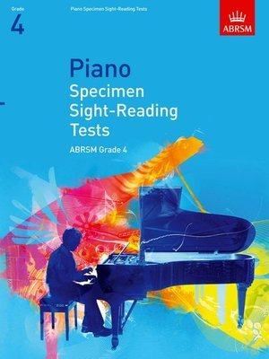 ABRSM PIANO SPECIMEN SIGHT READING TESTS GR 4 2009
